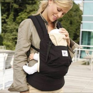 ERGObaby Black and Tan Baby Carrier